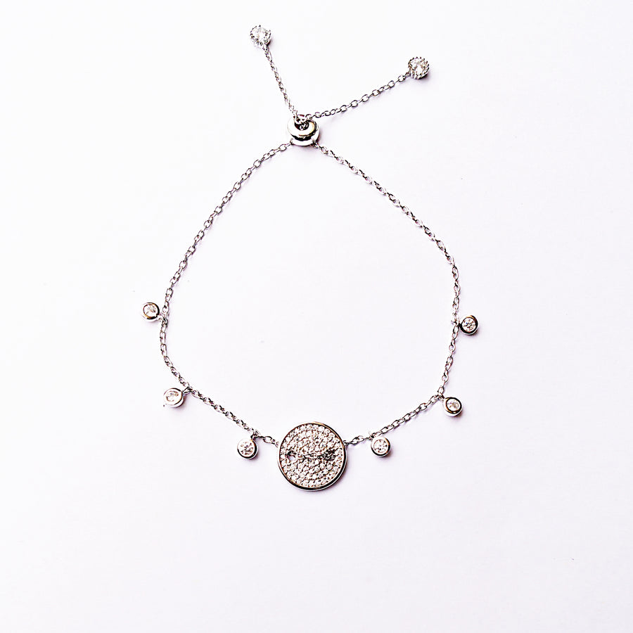 The Button and Bead Adjustable Bracelet