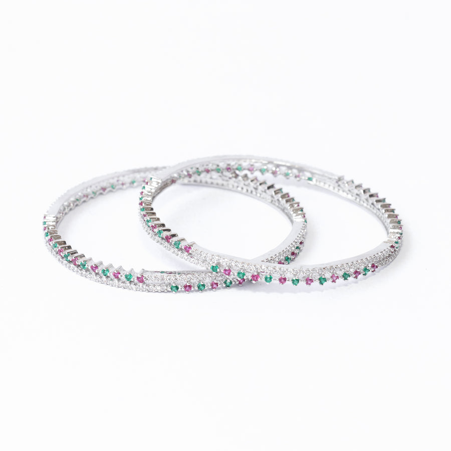 The Hoop of Stones Bangle Set