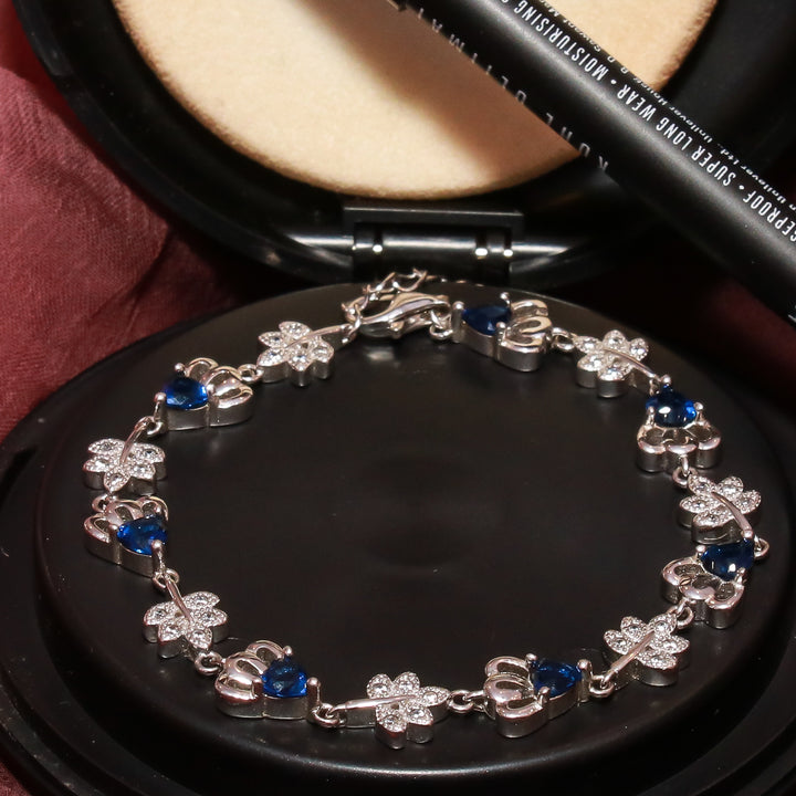 The Astonishing Sapphire and Diamond Leaf Bracelet