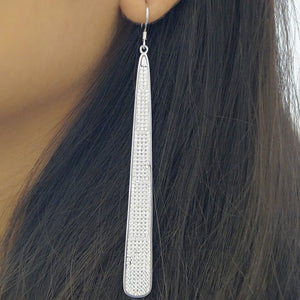 Slim Drop Hanging Earrings