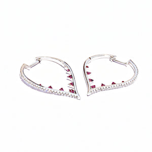 Excavated Heart Love Earrings