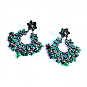 The Luxurious Emerald Earrings with Emerald Drops
