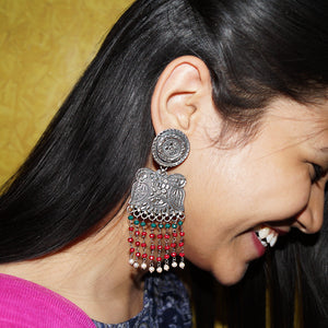 The Phool Patti Carved Earrings