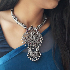 Exclusive Gopi Temple-Tribal Necklace