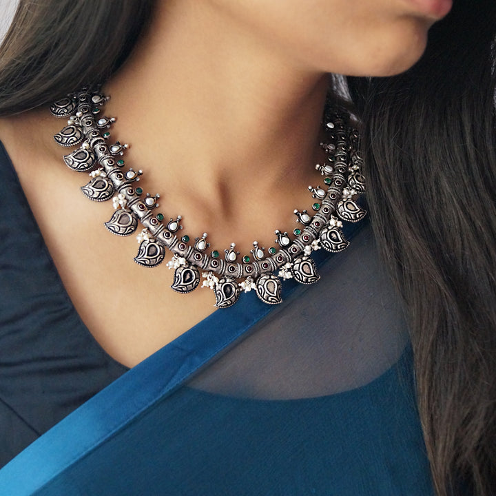 The Antique Ambi Oxidised Necklace