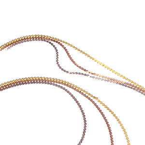 Tri-colour Triple Layered Flat Chain