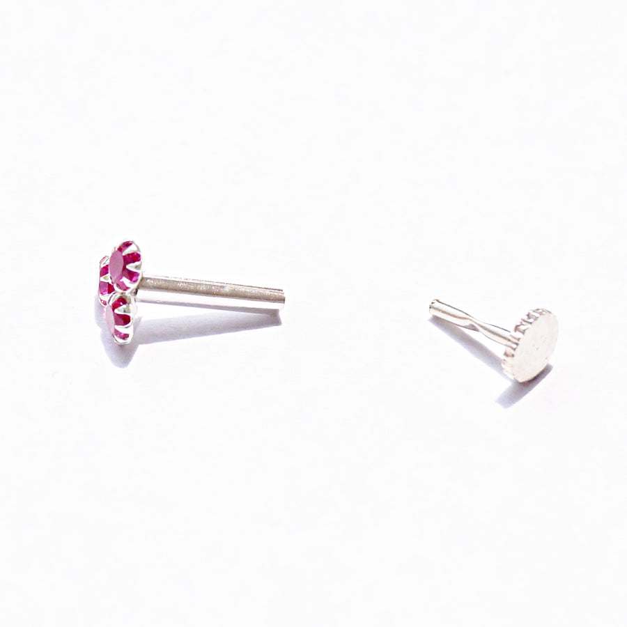 The Ruby Clover Nose Pin (5mm)