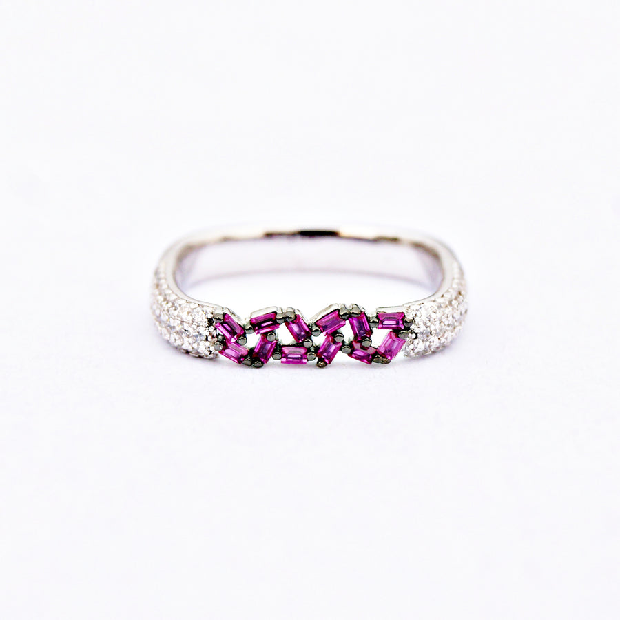 Square Band Stack Ring (Pair)