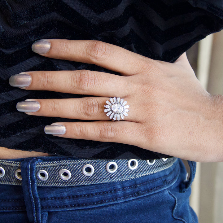 The Studded Flower Ring