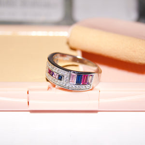 The Multi Colour Studded Band