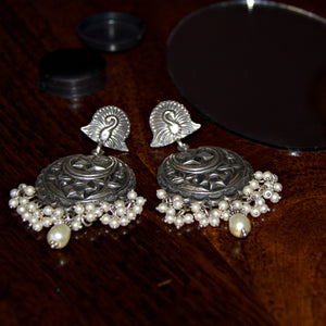 The Chandbali Earrings with Pearl Drops