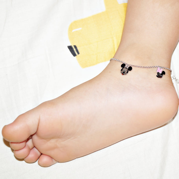 The Mickey and Minnie Kids Anklet (Single/Pair)
