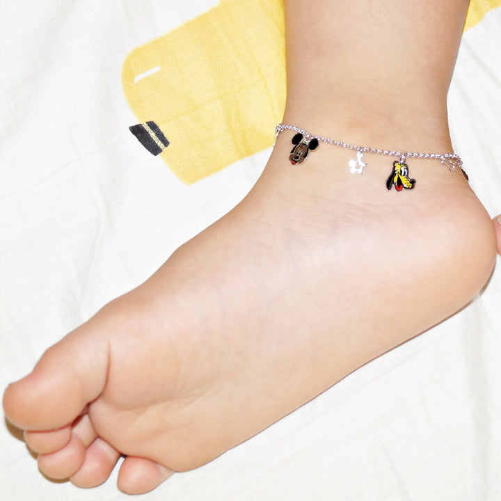 The Mickey, Minnie and Pluto Kids Anklet (Single/Pair)