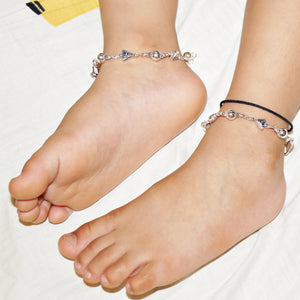The Trikon and Gol Beads Kids Anklet (Pair)