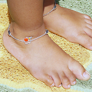 The Elephant Kids Anklet (Pair)