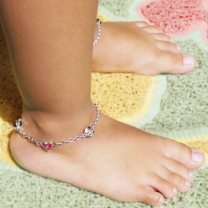 The Heart and Star-fruit Kids Anklet (Pair)
