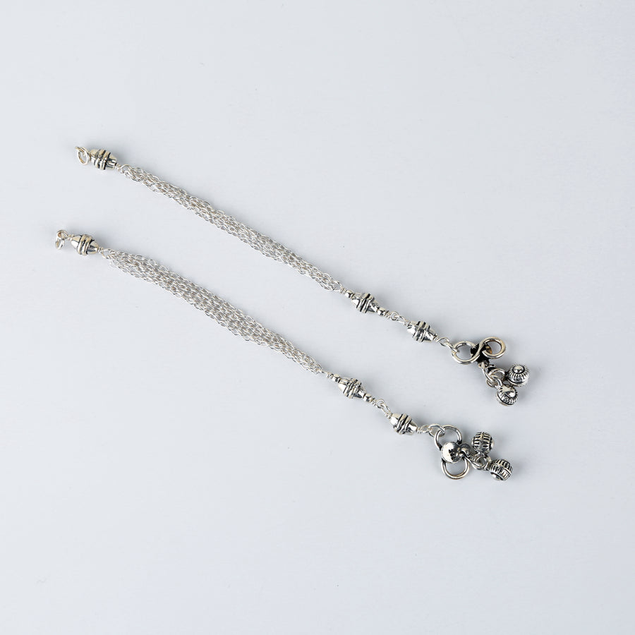 The Matra Six Layered Baby Anklet (Pair)