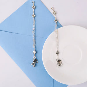 The Flower Beads Tripple Layer Kids Anklet (Pair)