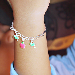 The Flamingo and Apple Baby Bracelet (Single/Pair)
