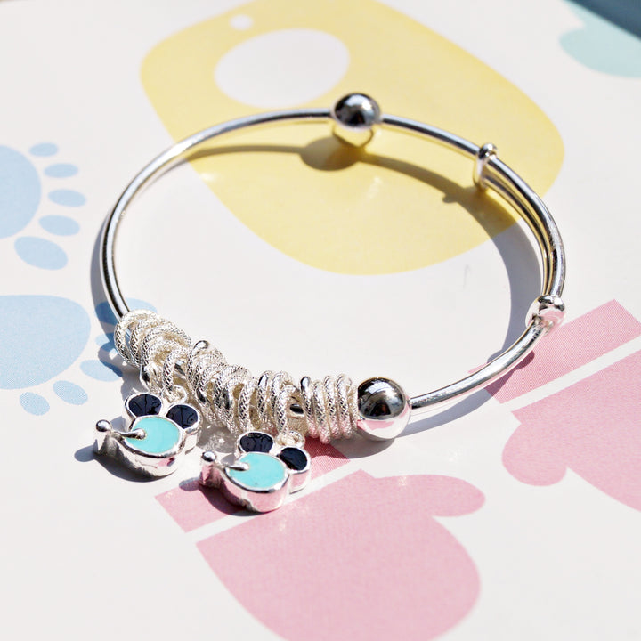 Mickey Mouse and Hoops Baby Kaduli Bracelet (Single/Pair)