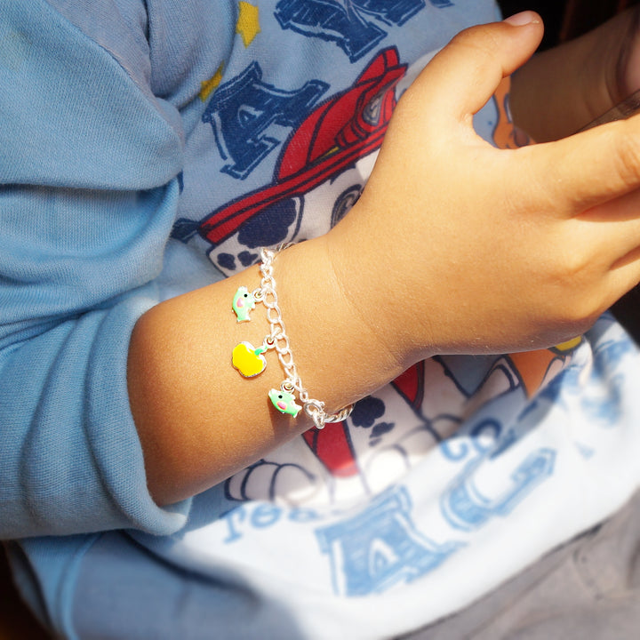 The Fish and Apple Baby Bracelet (Single/Pair)