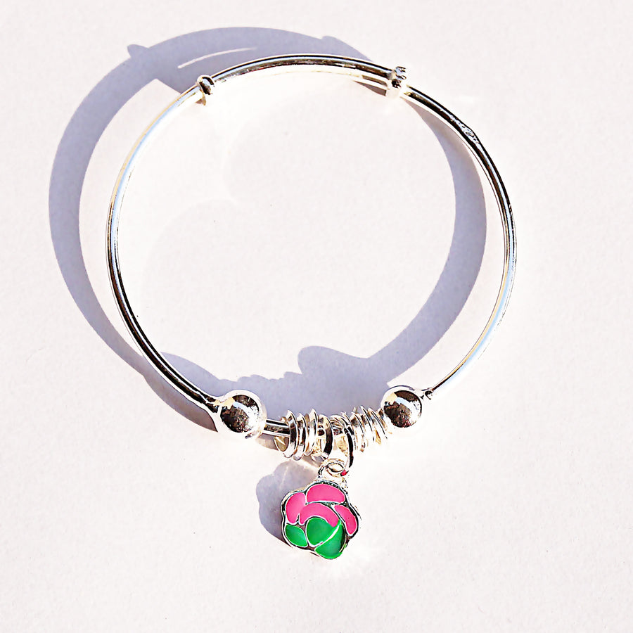 The Rose Charm Baby Kaduli Bracelet (Single/Pair)