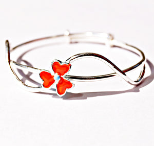 The Tiara of Trillium Flower Baby Bracelet (Single/Pair)