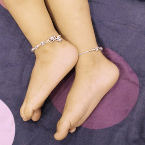 The Dholak Beaded Kids Anklet (Pair)