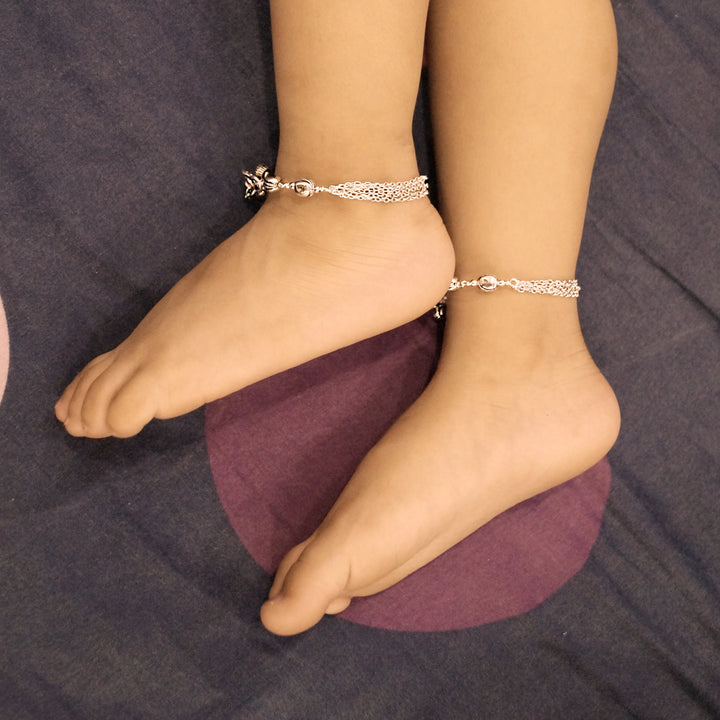 Six Layered Baby Anklet (Pair)