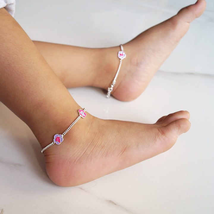 The Purple Rose Kids Anklet (Pair)