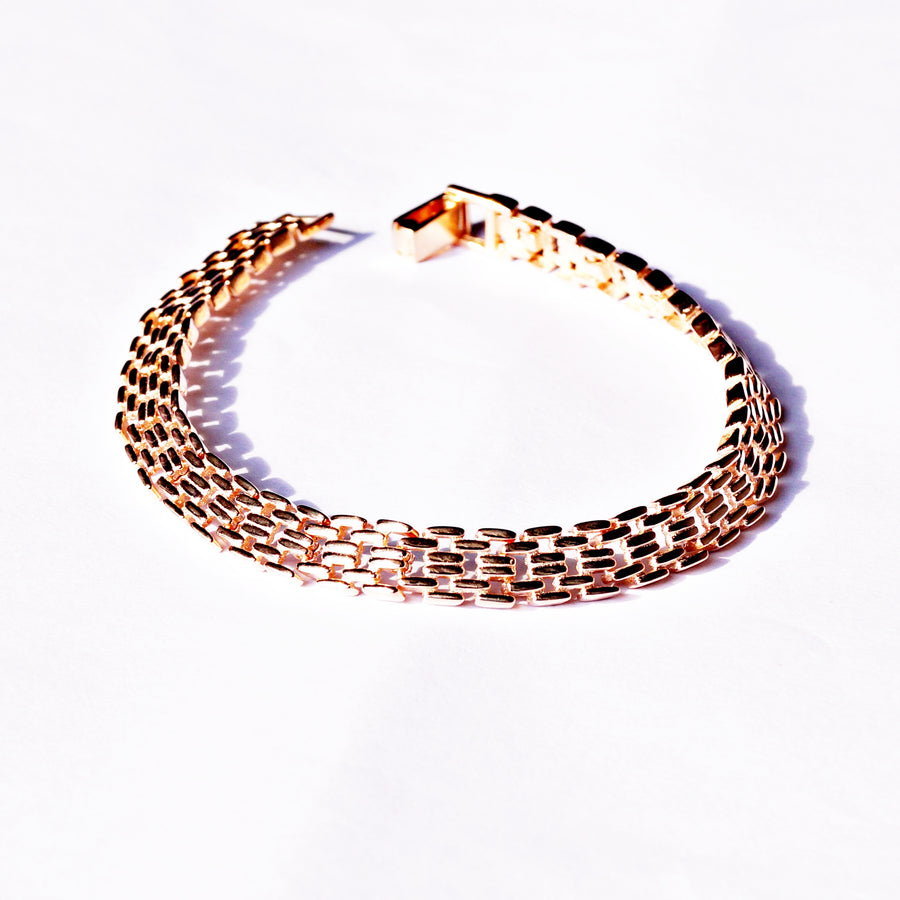 Rose Gold Panther Chain Bracelet