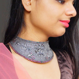 The Shera vali Maa Temple Choker Necklace