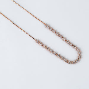 The Rosegold Mogra Adjustable Necklace
