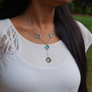 The Crystal Flower Kanthi Necklace