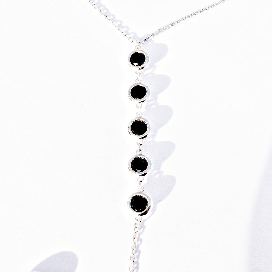 The Lariat Look Onyx Necklace Set