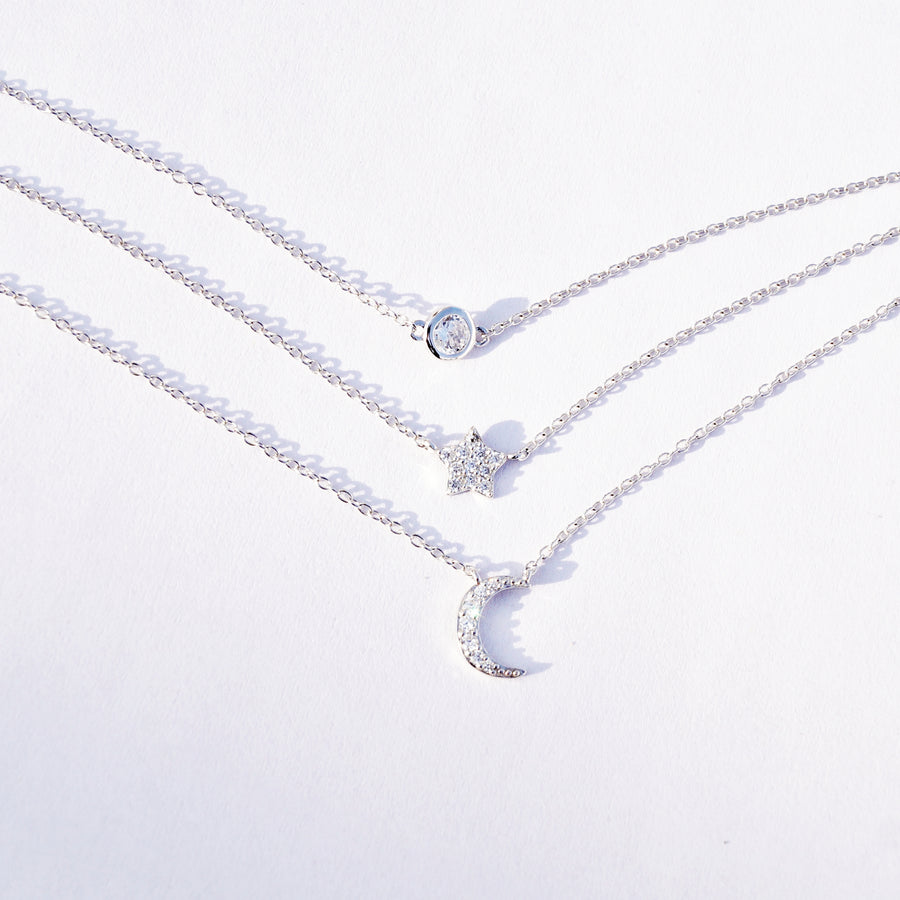 The Sky of Moon and Star Necklace