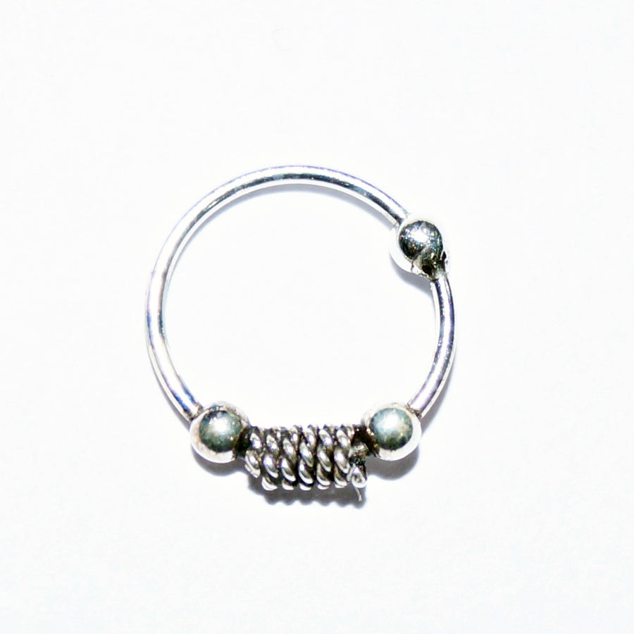Guarded Spring Bead Nose Ring