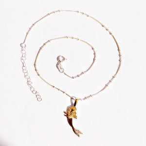 The Gold Mermaid Pendant and Chain