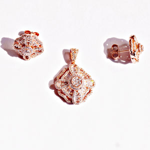 The Rose Gold Quad Balloon Pendant Set