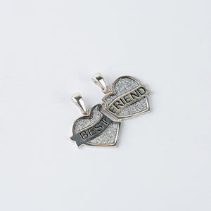 The Split Couple Heart Best Friend Pendants