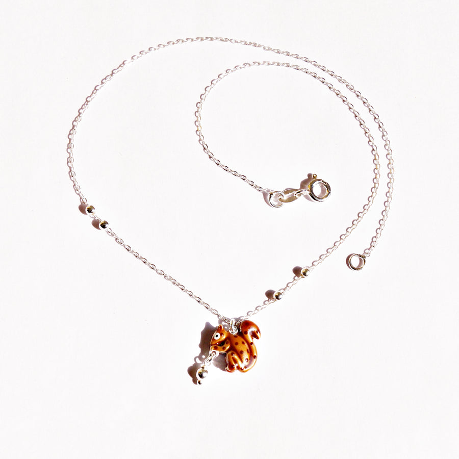 The Playful Squirrel Pendant Chain
