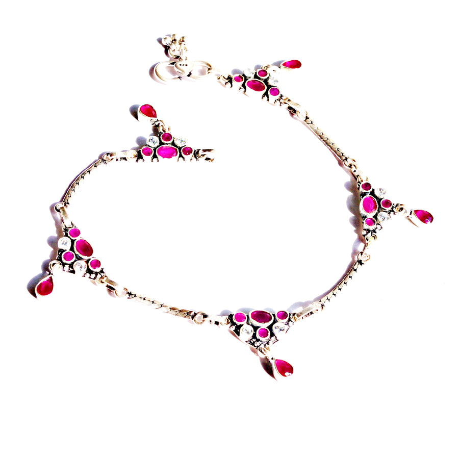 The Rani Cut-stone Anklet (Pair)