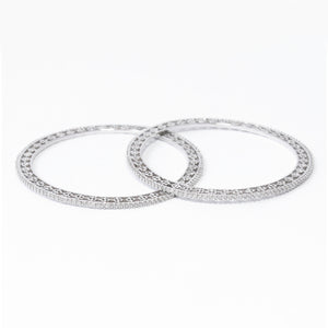 Ornate Diamond Bangle Set