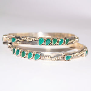Emerald Drops Bangle Set