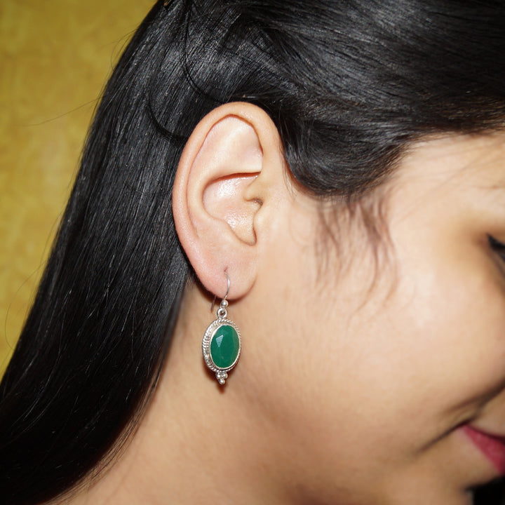 The Emerald Mirror Earrings