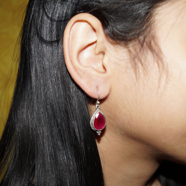 The Ruby Drop Earring