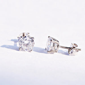 Scintillating Solitaire Studs (6mm)