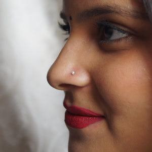 The Vintage Pearl Nose Pin (2mm, 2.5mm)