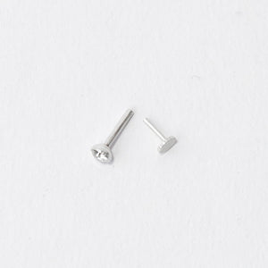 Diamond Stone Nose Pin (3mm/3.5mm) (Pushback)