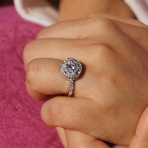 The Cake Cut Cz Ring